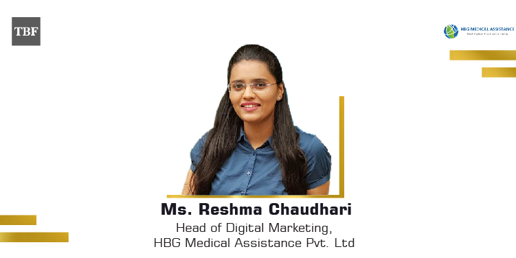 The Business Fame | Ms.-Reshma-Chaudhari-Head-of-Digital-Marketing-HBG-Medical-Assistance-Pvt-Ltd